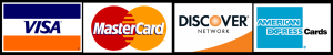 visa, mastercard, discover, and american express cards
