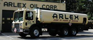 arlex oil truck in front of arlex oil corporation building