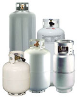 propane and oil tanks