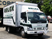 white arlex oil truck